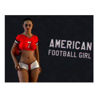 American Football Girl Chablis Postcard