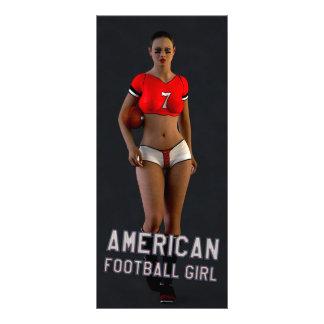 American Football Girl Chablis Rack Card Design