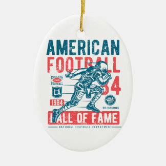 American Football Hall Of Fame Christmas Ornament