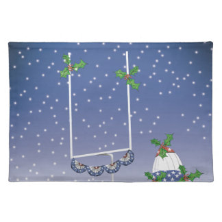 american football happy holiday placemat