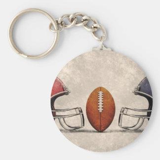 american football hdr key ring