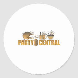 american football helmet ball beer chips party round stickers
