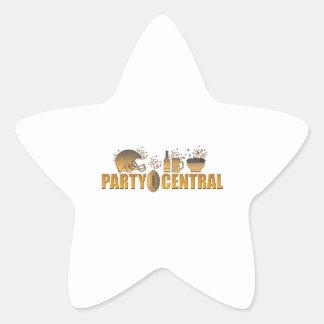 american football helmet ball beer chips party sticker