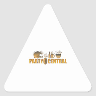 american football helmet ball beer chips party triangle sticker