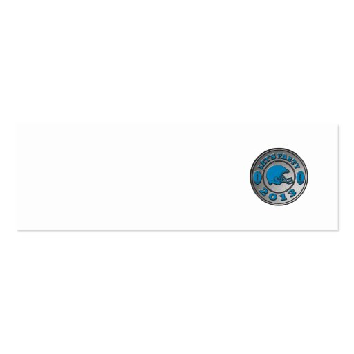 american football helmet lets party 2013 business card template