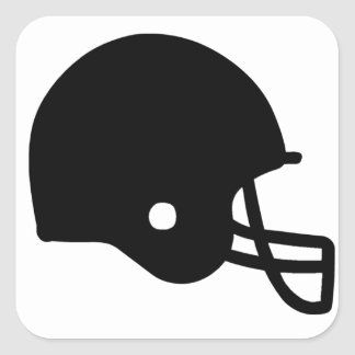 American Football Helmet Square Sticker