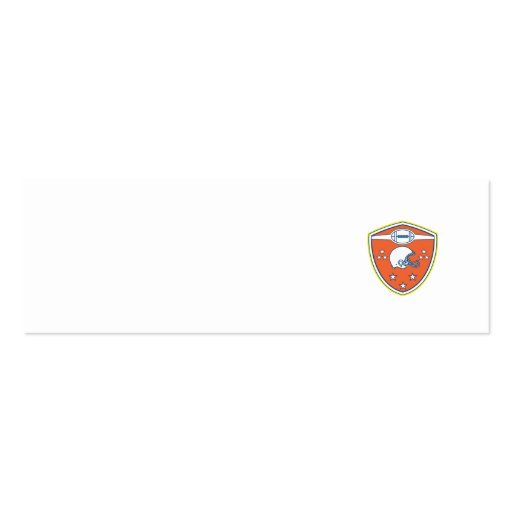 American Football Helmet Stars Shield Retro Business Card