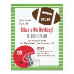 "American Football Kids Birthday Party Invitations 4.25"" X 5.5"" Invitation Card"