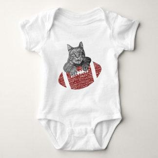 American Football Loving Cat Baby Bodysuit