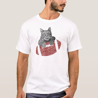 American Football Loving Cat T-Shirt