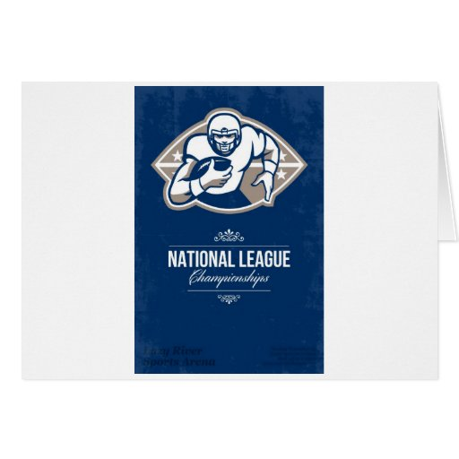 American Football National League Championship Pos Cards