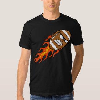 American Football On Fire Mens T-Shirt