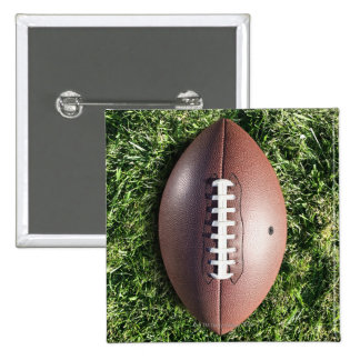 American football on grass 15 cm square badge