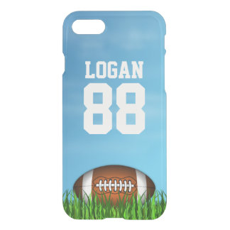 American Football on Grass and Blue Sky Clearly iPhone 7 Case