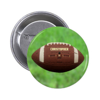 American Football Or Rugby Ball Button