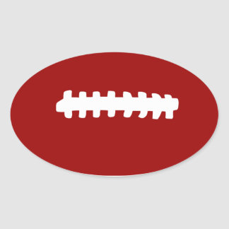 American Football Oval Sticker