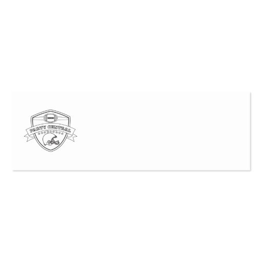 american football party central shield business cards