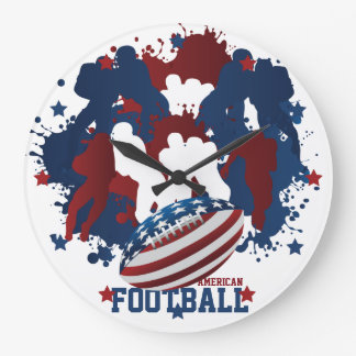 American Football Patriotic Wall Clock