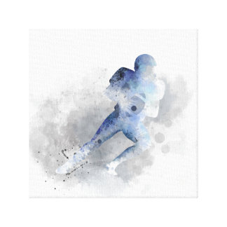 AMERICAN FOOTBALL PLAYER 1-Stretched Canvas Print