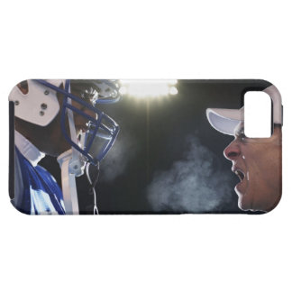 American football player and referee arguing, iPhone 5 cover