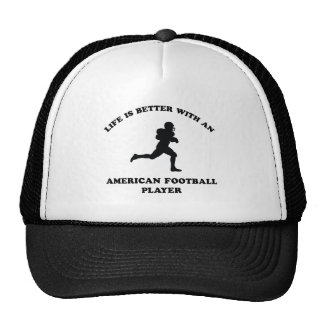 American Football Player Designs Mesh Hats