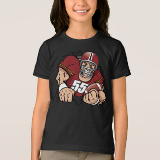 American Football Player Girls T-Shirt