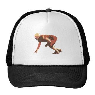 american football player mesh hat