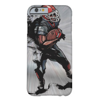 American football player holding football barely there iPhone 6 case