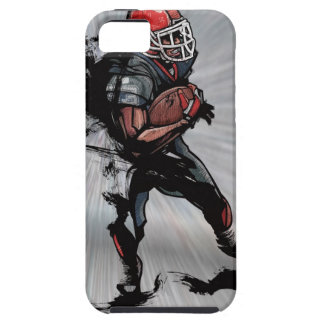 American football player holding football case for the iPhone 5