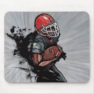 American football player holding football mouse mat