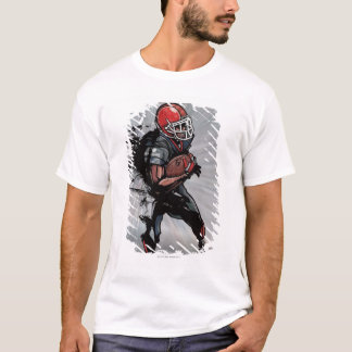 American football player holding football T-Shirt