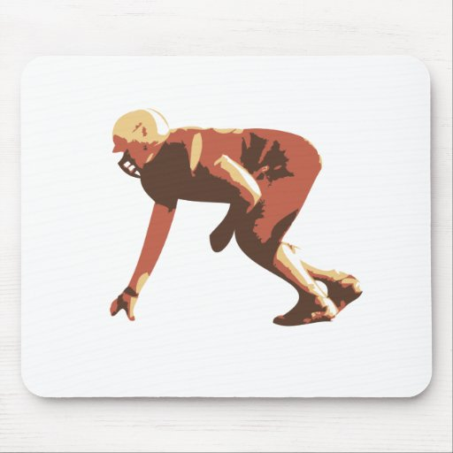 american football player mouse pad