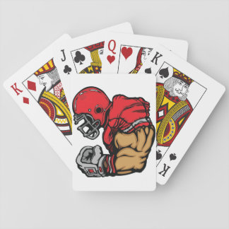 American Football Player Playing Cards