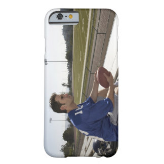 American football player sitting on bleachers barely there iPhone 6 case