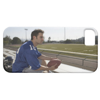 American football player sitting on bleachers iPhone 5 cover