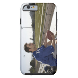 American football player sitting on bleachers tough iPhone 6 case