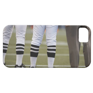 American football players and coach standing on barely there iPhone 5 case