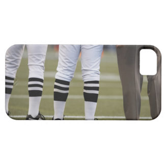 American football players and coach standing on iPhone 5 case