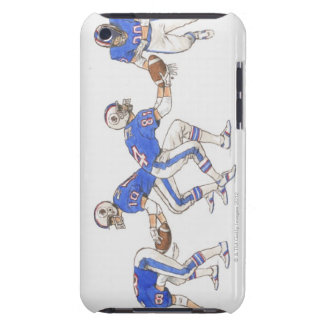 American football players demonstrating moves barely there iPod case