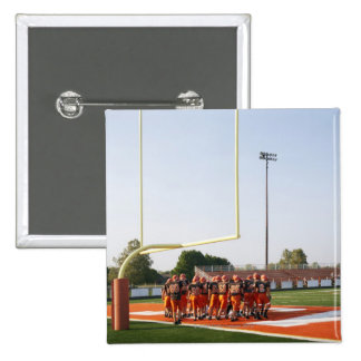American football players, including teenagers 15 cm square badge