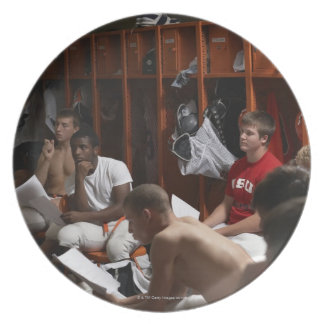 American football players including teenagers 2 plate
