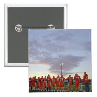American football players including teenagers pins