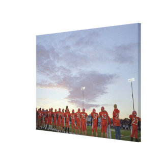 American football players including teenagers canvas print