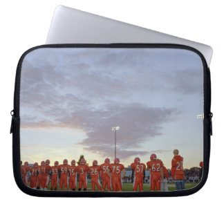 American football players including teenagers computer sleeve