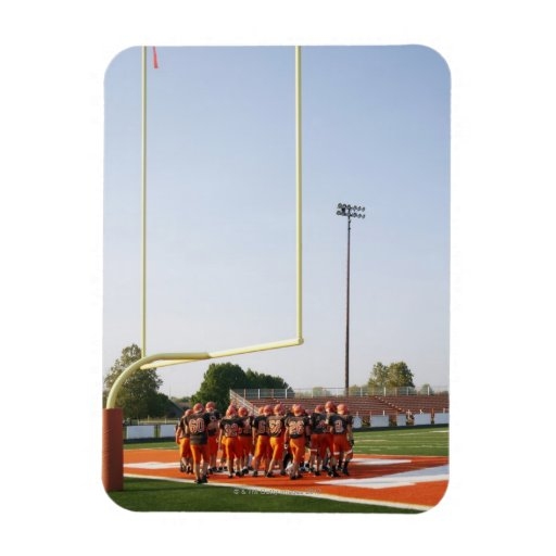 American football players, including teenagers rectangle magnet