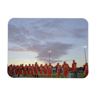 American football players including teenagers rectangular photo magnet