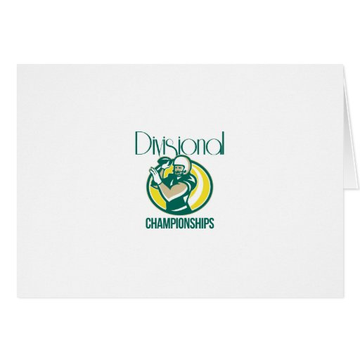 American Football QB Divisional Championships Retr Greeting Cards