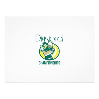 American Football QB Divisional Championships Retr Custom Announcement