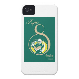 American Football QB Poster Art iPhone 4 Case-Mate Cases