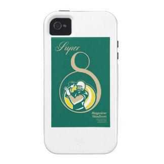 American Football QB Poster Art iPhone 4 Cases